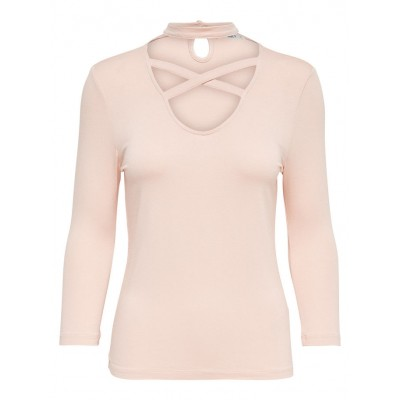 Cross Choker Only Top - Cameo Rose